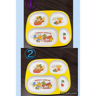 スリーコインズ(3COINS)の3COINS  スリコ ポケモン 4つ切りランチプレート 2枚セット①②(プレート/茶碗)