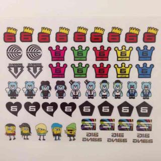 BIGBANG ネイルシール エンタメ/ホビーのタレントグッズ(その他)の商品写真