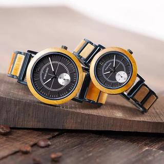 値下げ!BOBO BIRD 腕時計 ボボバード ペアウォッチ お揃い イエロー(腕時計(アナログ))