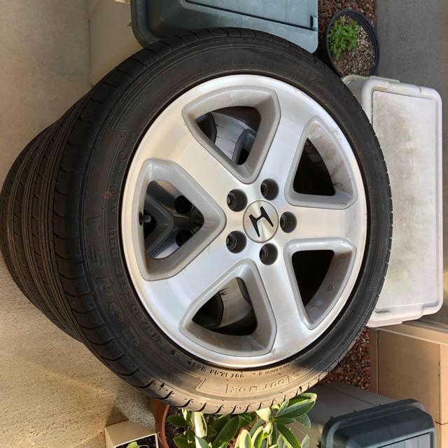 ホンダ(ホンダ)のホンダ純正 ホイールセット ステップワゴン 自動車/バイクの自動車(タイヤ・ホイールセット)の商品写真