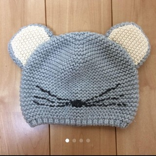 babyGAP - ベビーギャップ ネズミ ニット帽 双子 コスチューム 年賀状