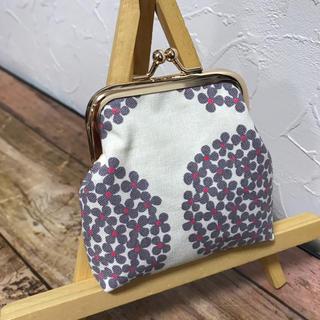 小ぶりがま口 / 紫陽花 ホワイト(財布)