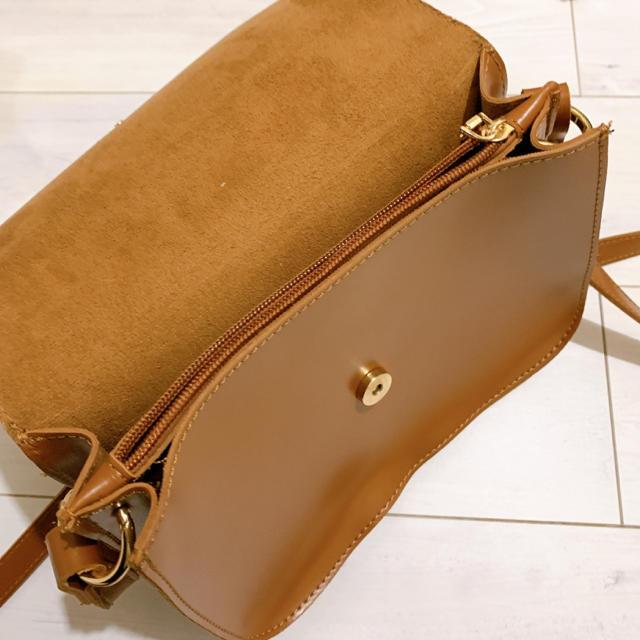 merlot(メルロー)のポシェット ブラウン キャメル レディースのバッグ(ショルダーバッグ)の商品写真
