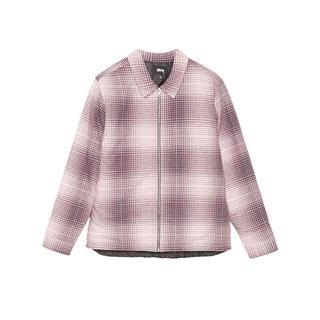 ステューシー(STUSSY)のstussy front zip shirtjacket Burgundy(ダウンジャケット)