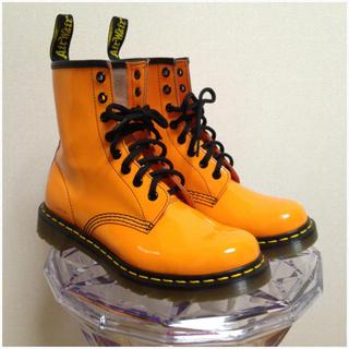 ドクターマーチン(Dr.Martens)の美品 ドクターマーチン パテントレザー ブーツ(ブーツ)