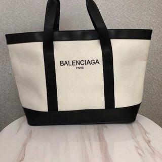 Balenciaga - 希少Balenciaga  バレンシアガ キャンバス レザートートバッグ