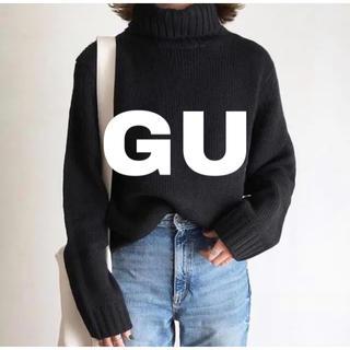 GU - UNIQLO GU ローゲージタートルネックセーター(長袖)