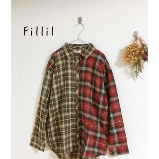 merlot - 新品 Fillil ネルチェック シャツ