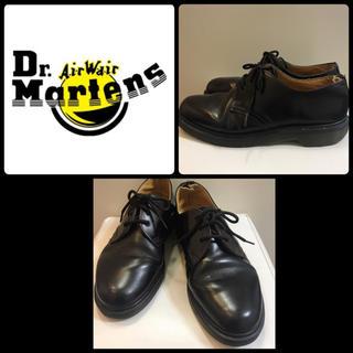 Dr.Martens - ドクターマーチン  ブラックレザー  3ホールシューズ