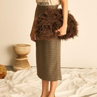 Mila Owen - Mila Owen 新品 ウエストシャーリングタイトスカート