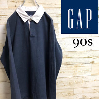 GAP - 90s オールドギャップ GAP ビンテージ長袖ポロシャツ M