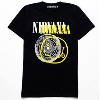 半袖 Tシャツ ニルヴァーナ  メンズ レディース ニコ×サークル XL 黒(Tシャツ/カットソー(半袖/袖なし))