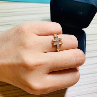 ティファニー(Tiffany & Co.)のティファニー ダイヤ Tワイヤー リング 指輪14号(リング(指輪))