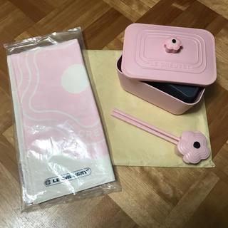LE CREUSET - 台湾限定 ルクルーゼ お弁当セット(お弁当箱+はし+ランチョンマット) ピンク