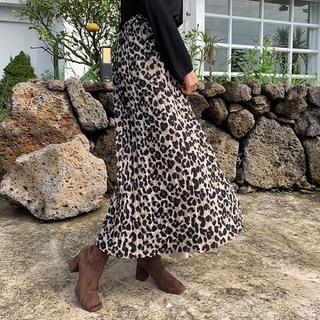 dholic - レオパードプリーツロングスカート