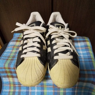 adidas - 中古 アディダス スーパースター 28cm ブラック スニーカー adidas