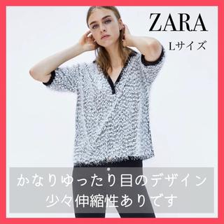 ZARA - 新品・未使用・タグ付【ZARA/ザラ】 半袖 トップス L