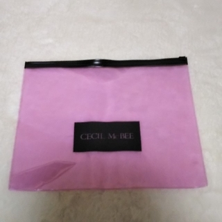 セシルマクビー(CECIL McBEE)の[新品]セシルマクビークリアファイルファスナー付き(ファイル/バインダー)