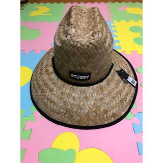 ステューシー(STUSSY)の新品未使用タグ付き 麦わら帽子(麦わら帽子/ストローハット)