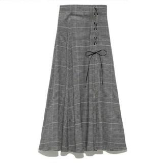 snidel - snidel ♡チェック スリット ロング スカート