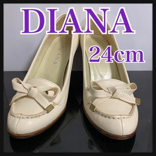 DIANA - DIANA ダイアナ パンプス ホワイト レザー 24cm