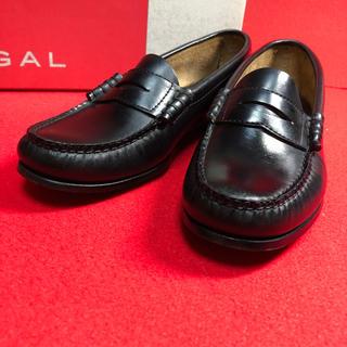 リーガル(REGAL)のREGAL リーガル コインローファー ブラック(ローファー/革靴)