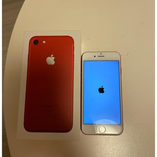 アップル(Apple)のiPhone7  128G  レッド(スマートフォン本体)