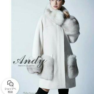 アンディ(Andy)の☆本日限定❗アンディ コート 超美品 白 フリーサイズ☆(毛皮/ファーコート)