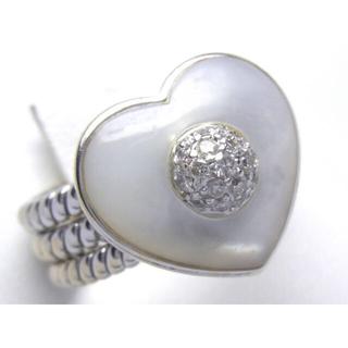 750(K18) 天然 シェル ダイヤ リング(リング(指輪))