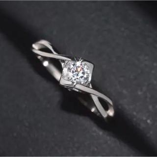 ★13号AAA級CZダイヤモンド!エタニティツイストシルバーリング(リング(指輪))