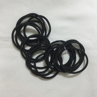 ユナイテッドアローズ(UNITED ARROWS)の新品未使用 ヘアゴム 20個 ヘアアクセ 黒 ヘアクリップ ヘアアクセサリー(ヘアゴム/シュシュ)