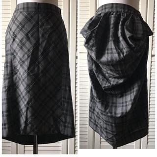 Vivienne Westwood - 美品 ヴィヴィアンウエストウッド チェック グレー ウールスカート S〜L
