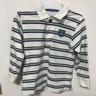 familiar - ファミリア ボーダー ポロシャツ
