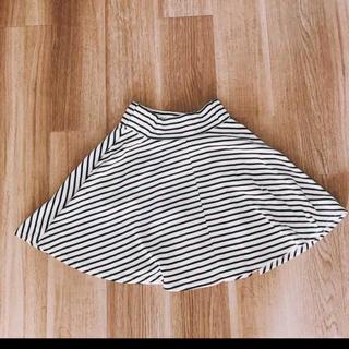 エージープラス(a.g.plus)のボーダースカート(ひざ丈スカート)