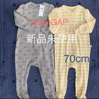 babyGAP - ベビーギャップ ♡足つきロンパース♡70cm 新品未使用