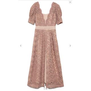 リリーブラウン(Lily Brown)のレイヤード刺繍チュールワンピース PBEG(ロングドレス)