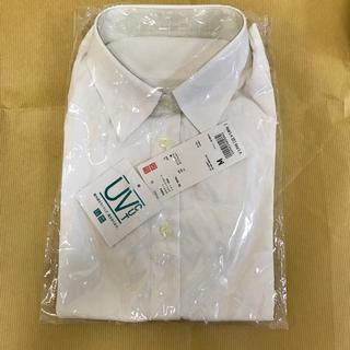 UNIQLO - ユニクロ レディース UVカットストレッチブロードシャツ 長袖 Mサイズ