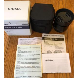 SIGMA -  SIGMA 19F2.8 DN/MFT ブラック レンズフィルター付き