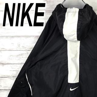 NIKE - ナイキ ナイロン ブルゾン パーカー ビッグサイズ レア 90s 銀タグ ライン