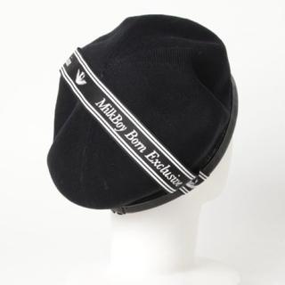 ミルクボーイ(MILKBOY)のMILKBOY SUMMER ベレー帽 黒(ハンチング/ベレー帽)
