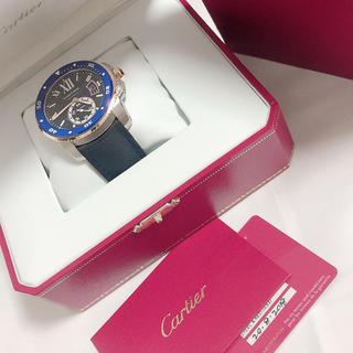 カルティエ(Cartier)の極美品【値下げ】カルティエカリブルダイバー ゴールド(腕時計(アナログ))