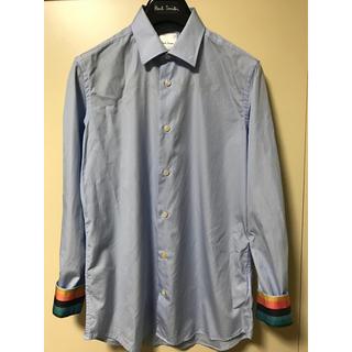 Paul Smith - ドレスシャツ Paul Smith マルチストライプ 水色 ポールスミス