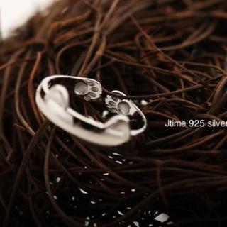 【猫リング】細めタイプ(8-13号)猫耳 肉球 指輪(リング(指輪))