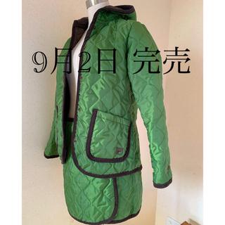フィラ(FILA)のFILA キルティング フード付きジャケット 巻きスカート(ダウンジャケット)