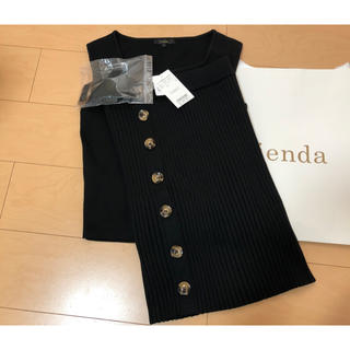 rienda - rienda*定価¥8,778!ハートネックリブKNIT SET UP 新品