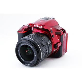 Nikon - ★おしゃれなレッド♪Wi-Fi搭載★ニコン D5500 レンズキット