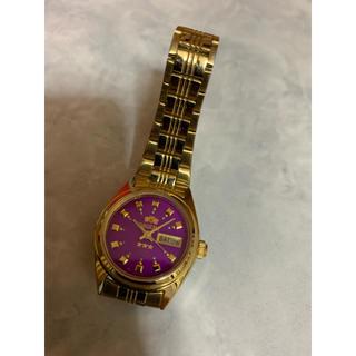 オリエント(ORIENT)のOrient ゴールド×パープルウォッチ腕時計(腕時計)
