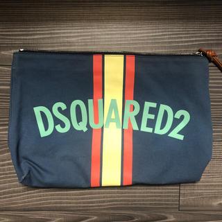 ディースクエアード(DSQUARED2)の【DSQUARED2】ディースクエアード/クラッチバッグ/青系/良品(セカンドバッグ/クラッチバッグ)