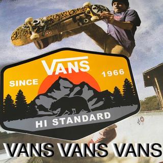 ヴァンズ(VANS)のVANSバンズUS限定BIGデザインバナーhi-standardステッカー(スケートボード)