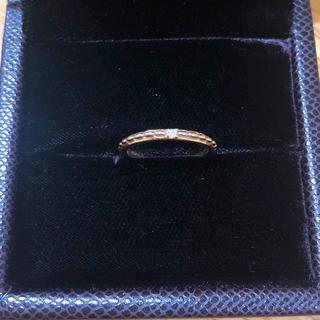エテ(ete)の♡ete K18 ピンクゴールド ダイヤ付きリング 7号♡(リング(指輪))